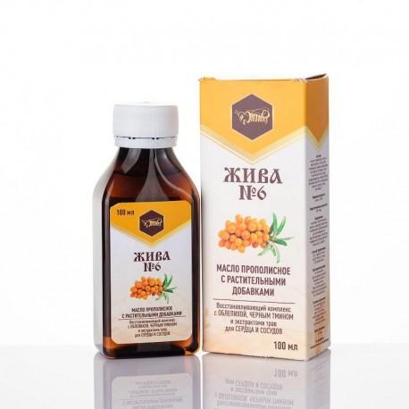 Масло с прополисом и растительными добавками «ЖИВА №6»