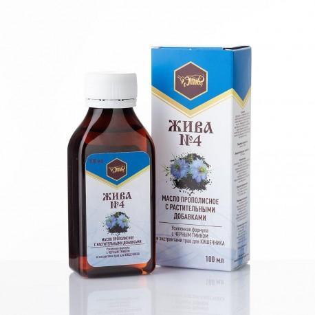 Масло с прополисом и растительными добавками «ЖИВА №4»