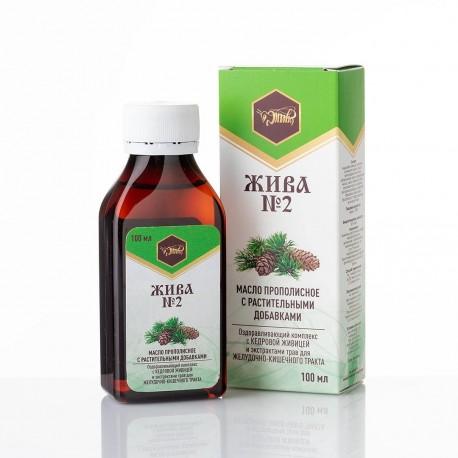 Масло с прополисом и растительными добавками «ЖИВА №2»