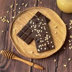 Горький шоколад на меду с кедровым орехом и клюквой