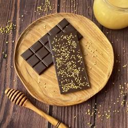 Горький шоколад на меду с пчелиной пыльцой