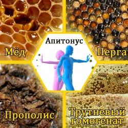Апитонус. Мёд с пергой, гомогенатом и прополисом, 250г