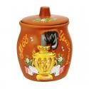 Горшочек глиняный для меда «Самовар»